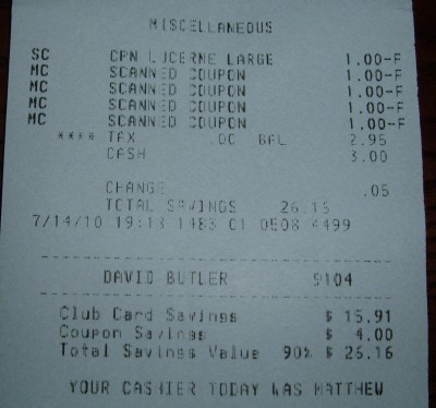 day 75 receipt total