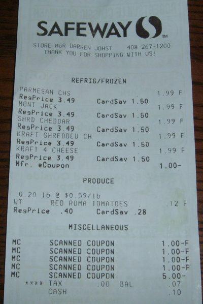 day 85 receipt