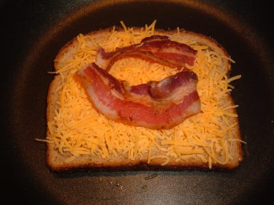 toasted bacon cheese sandwich