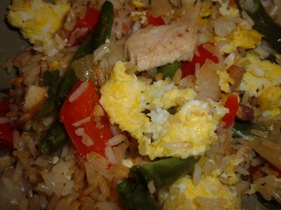 fried rice egg