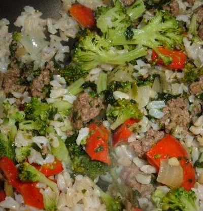 beef rice broccoli