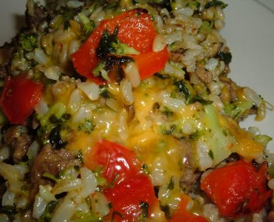 veggie beef cheese rice