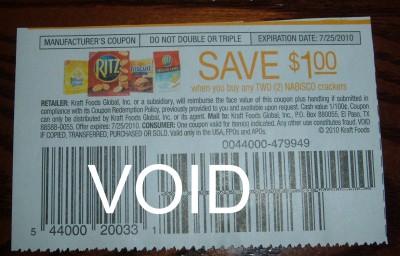 Ritz cracker coupon