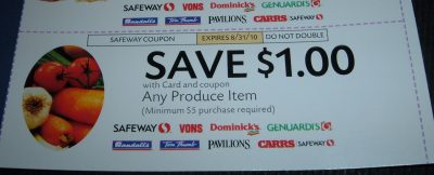$1 off produce coupon