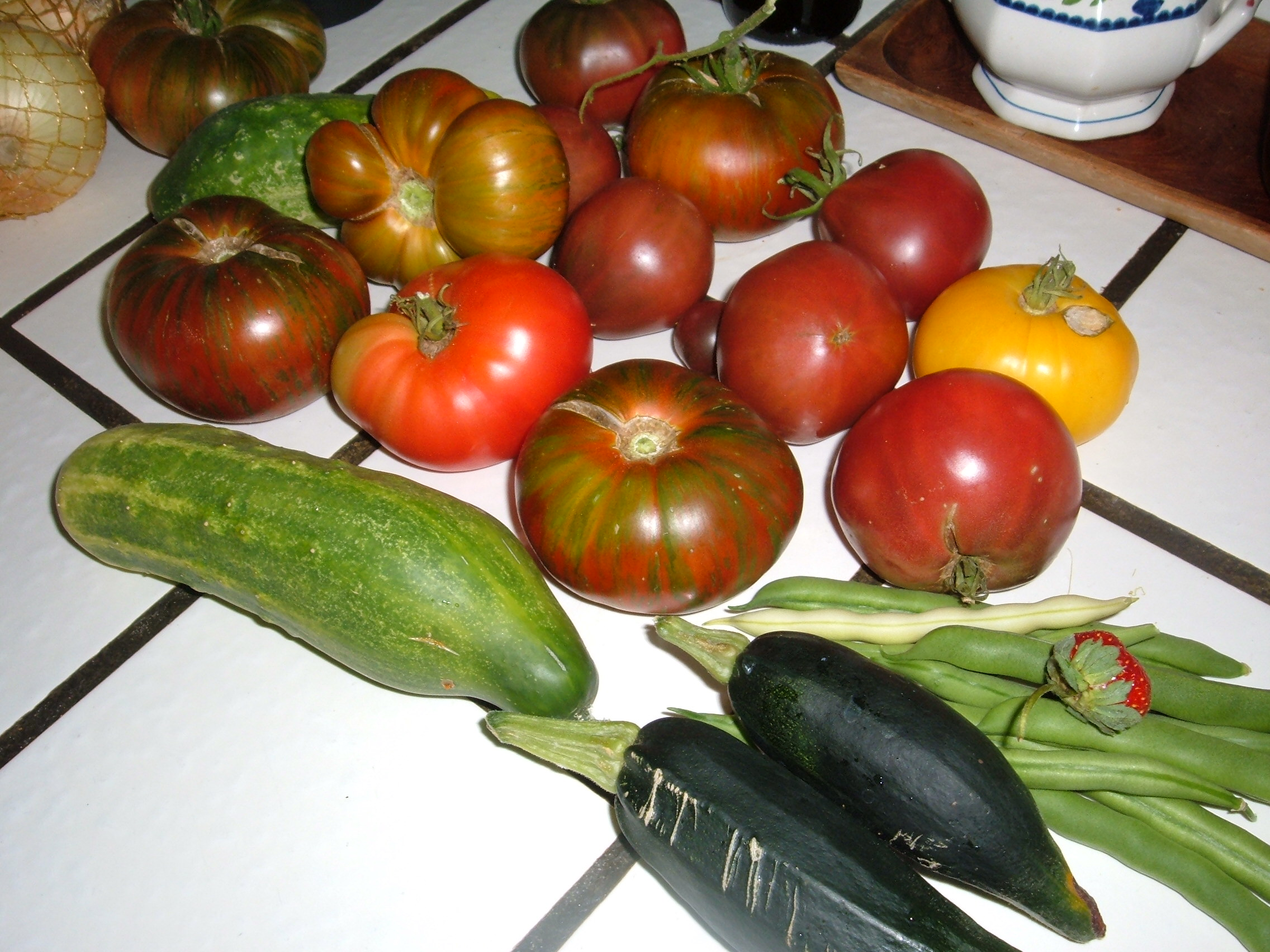 day 98 garden produce