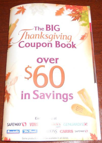 Safeway Thanksgiving coupon book