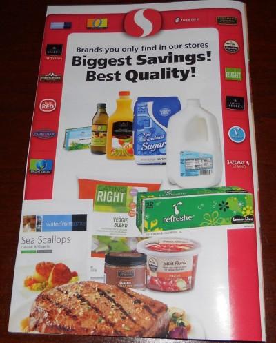 Safeway Thanksgiving coupon book back