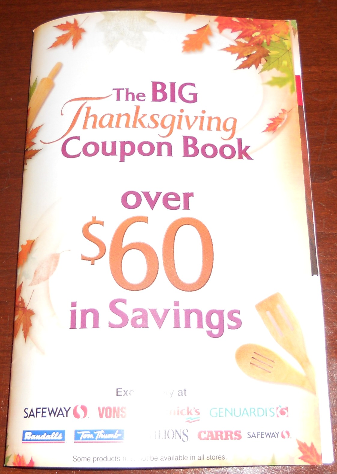 Safeway Thanksgiving coupon book
