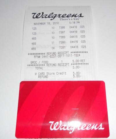 Walgreens gift card
