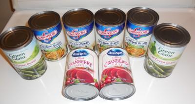 chicken broth cranberry sauce green beans