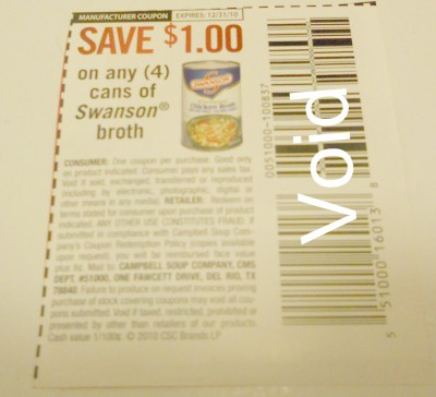 swansons coupon