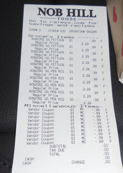 Ronzoni garden delight pasta receipt
