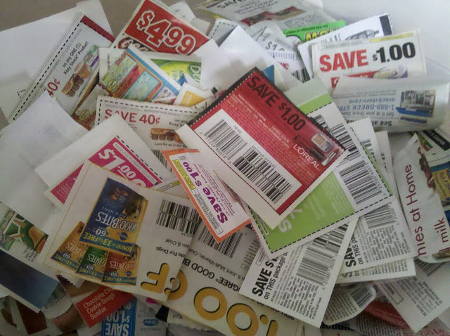 box of coupons