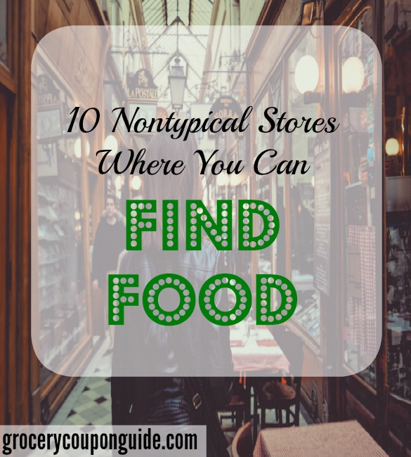 where to find food, non-typical stores