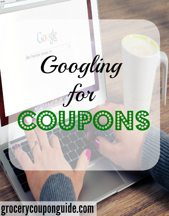 researching for coupons, coupon search, google for cpouns