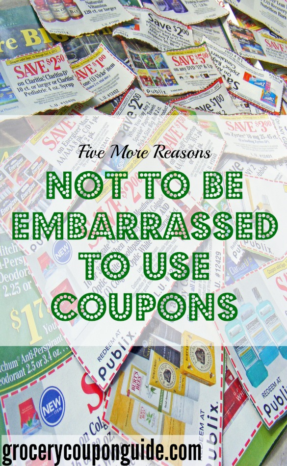 using coupons, couponing, why it's ok to use coupons