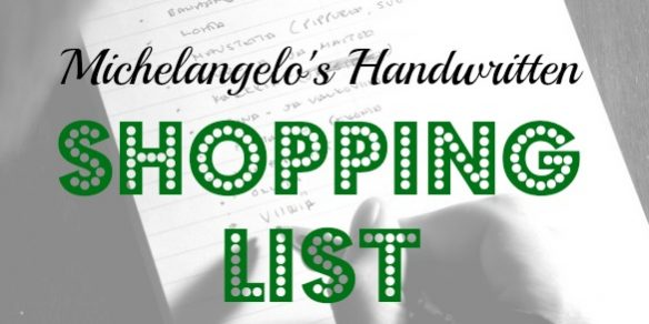 Michaelangelo's shopping list, ancient shopping list