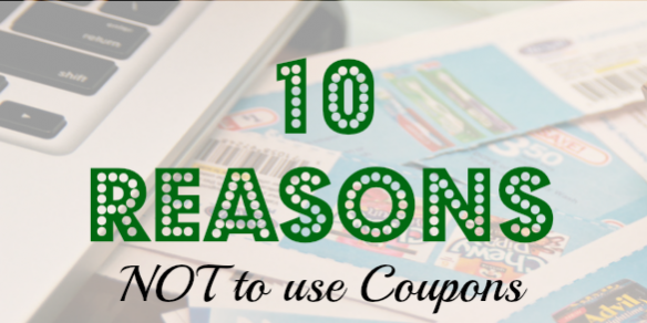 couponing tips, couponing advice, not using coupons