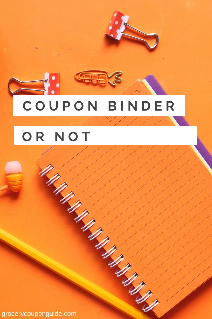 Coupon Binder or Not